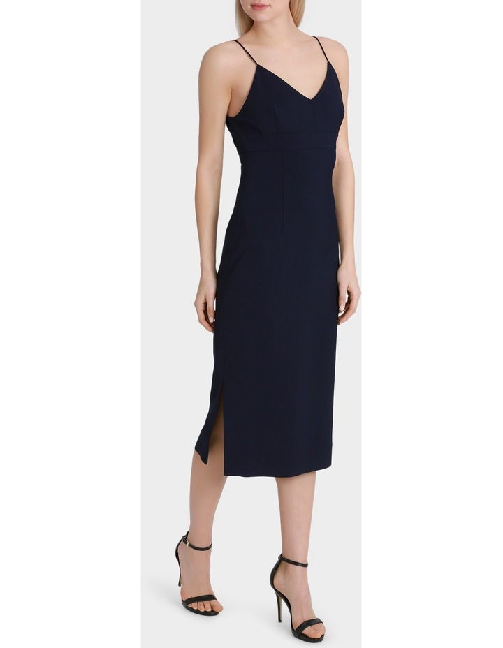 Navy Fitted Midi Dress image 2