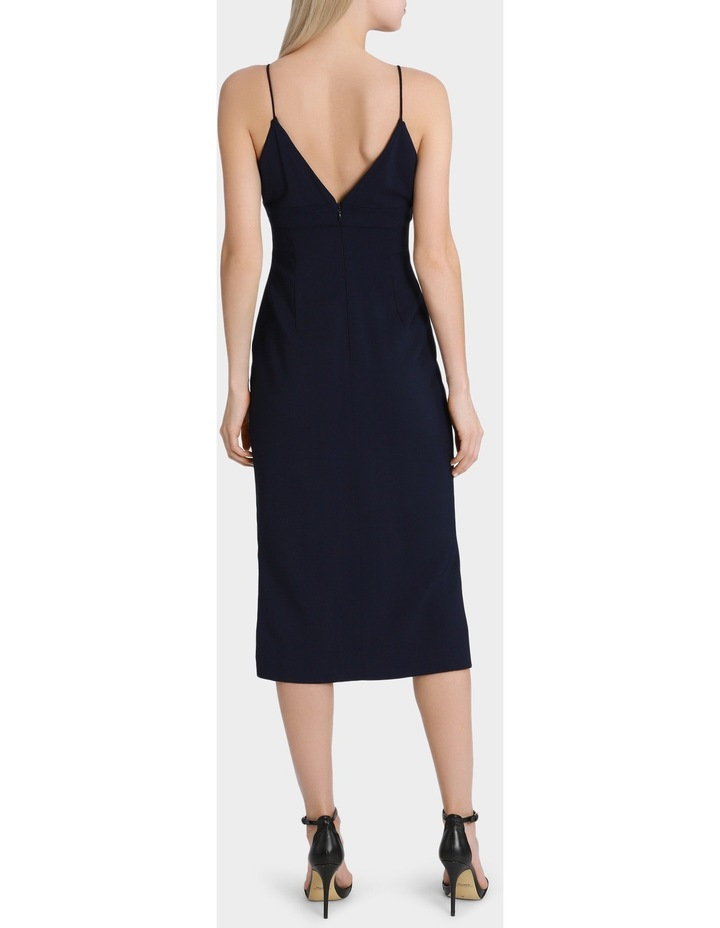 Navy Fitted Midi Dress image 3