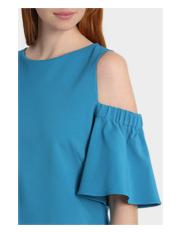 L Lisa Ho - Cold Shoulder Duck Egg Blue Dress