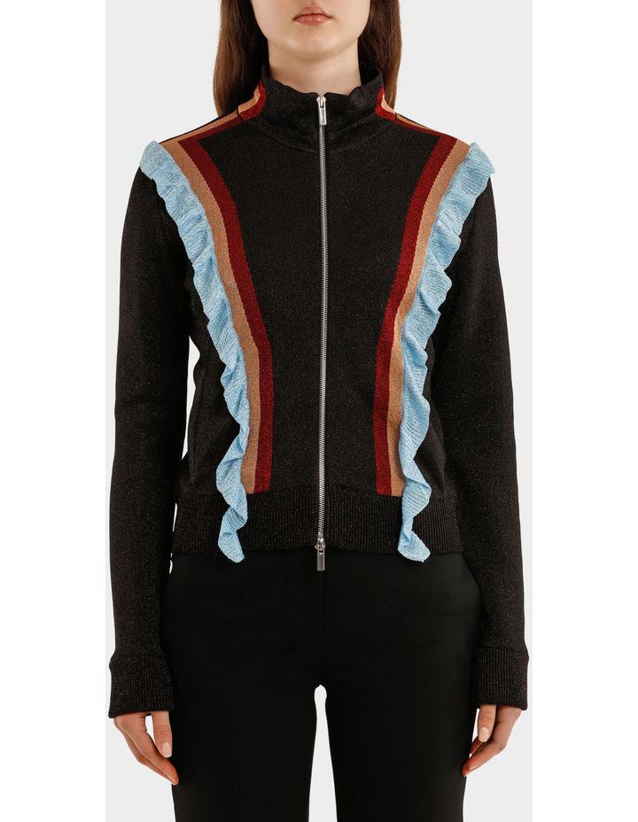 Multicolor Striped Lurex Jacket image 1