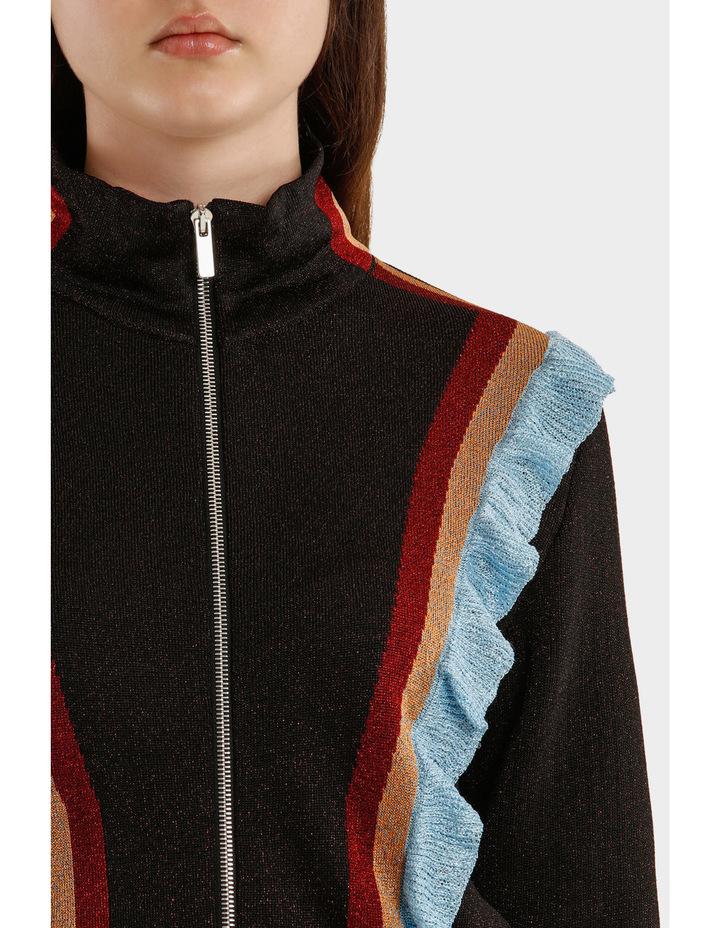 Multicolor Striped Lurex Jacket image 4