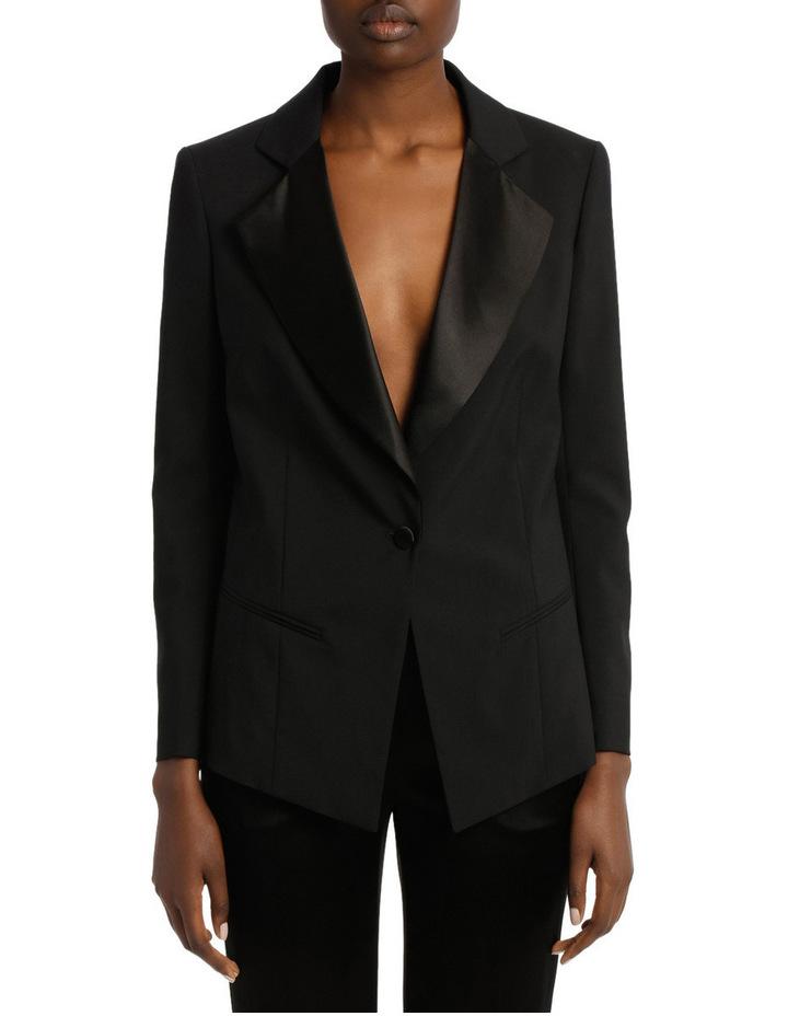 Satin Lapel Tuxedo Jacket image 1