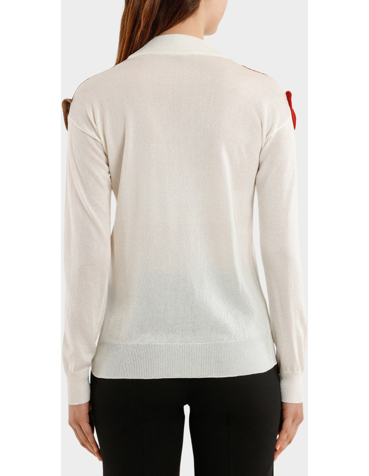 Knitted Lurex Turtleneck Sweater With Rouche image 3