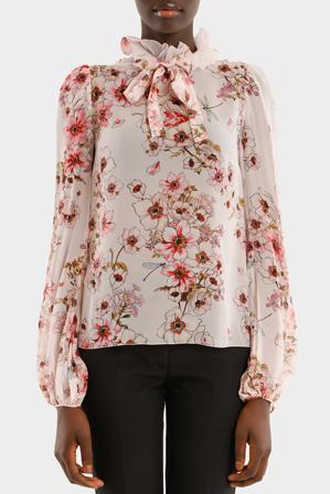 Giambattista Valli - Tie Collar Floral Shirt