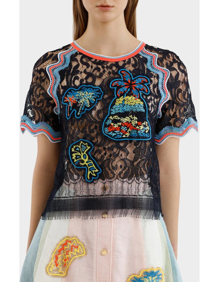 Embroidered Lace Top image 1