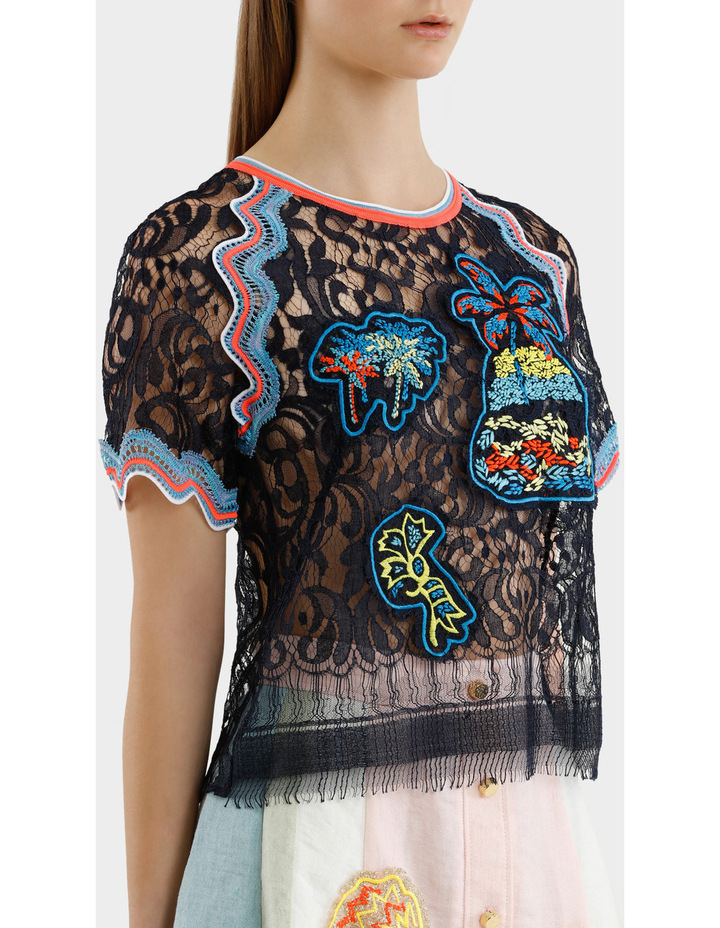 Embroidered Lace Top image 2