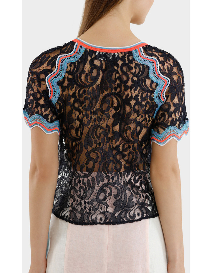 Embroidered Lace Top image 3