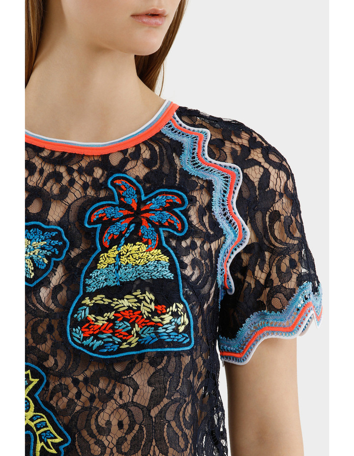Embroidered Lace Top image 4