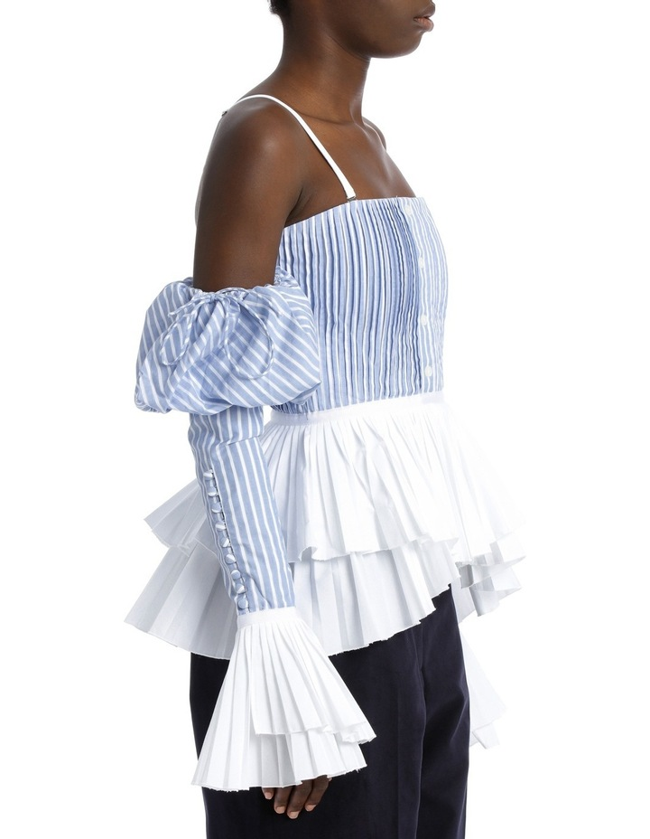Pleated Oxford Bustier Top image 2