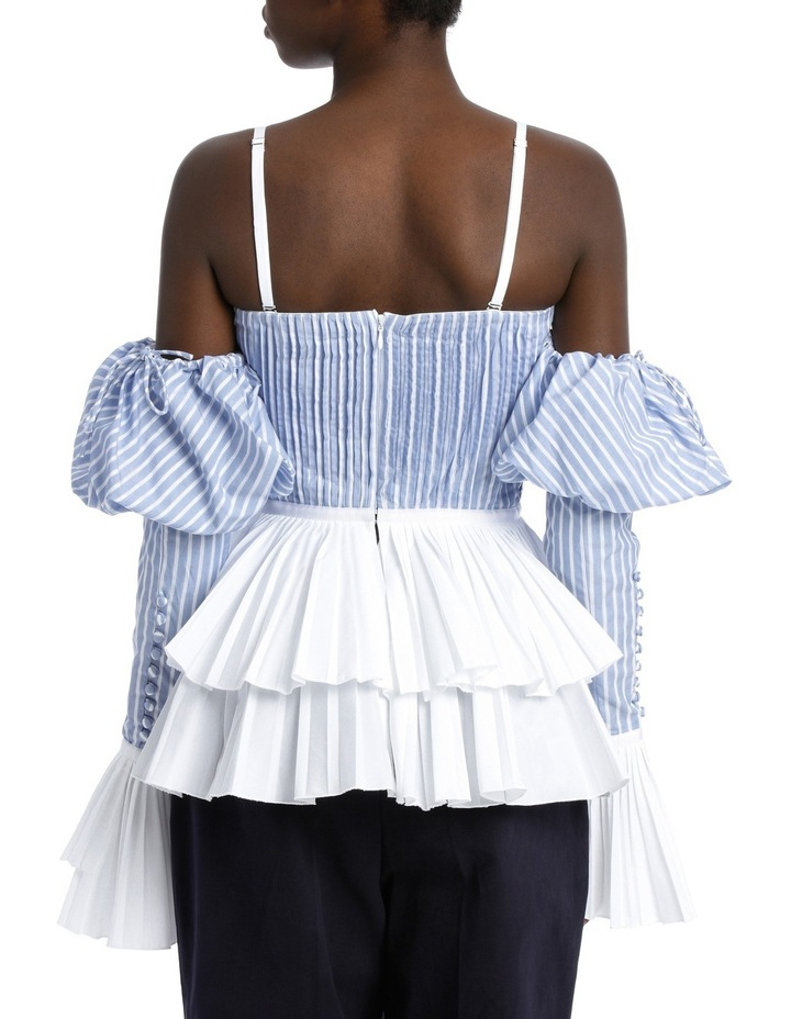 Pleated Oxford Bustier Top image 3