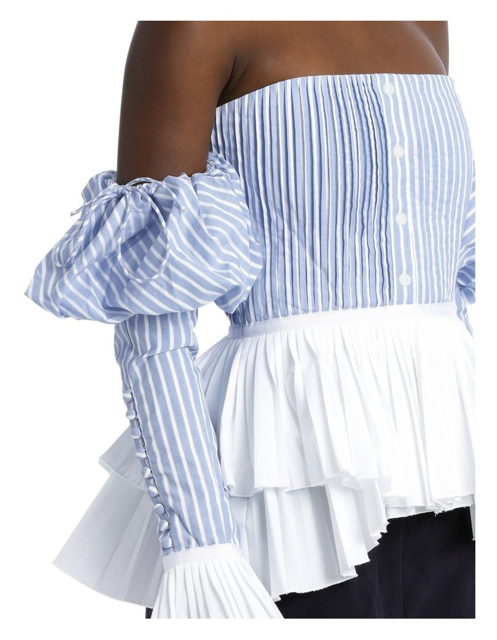 Pleated Oxford Bustier Top image 4