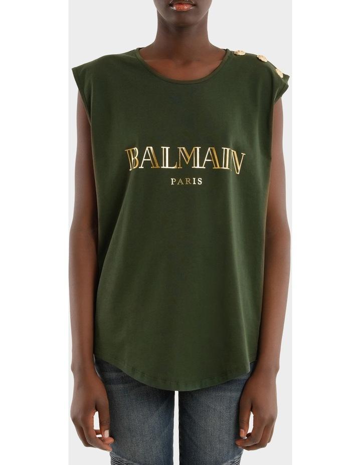 Tee-Shirt En Jersey Logo Balmain 3 Boutons image 1