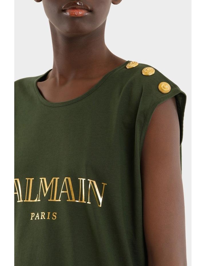 Tee-Shirt En Jersey Logo Balmain 3 Boutons image 4
