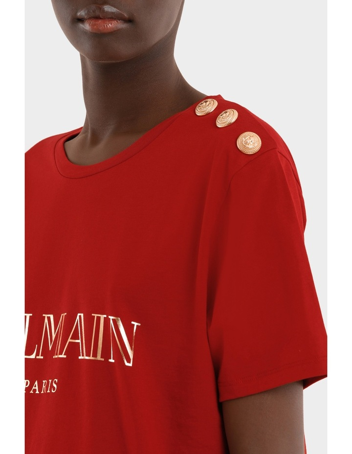 Tee-Shirt En Jersey Logo Balmain image 4