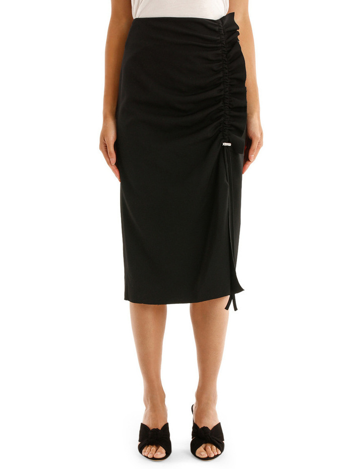 Skirt with Side Drawstring image 1