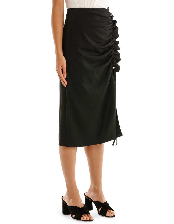 Skirt with Side Drawstring image 2