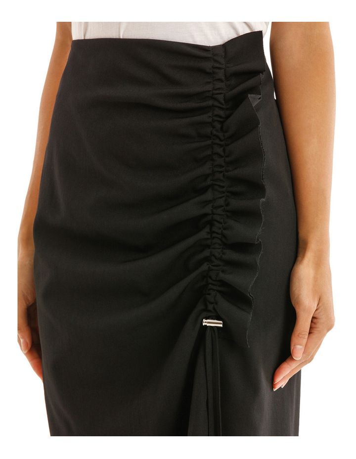 Skirt with Side Drawstring image 4