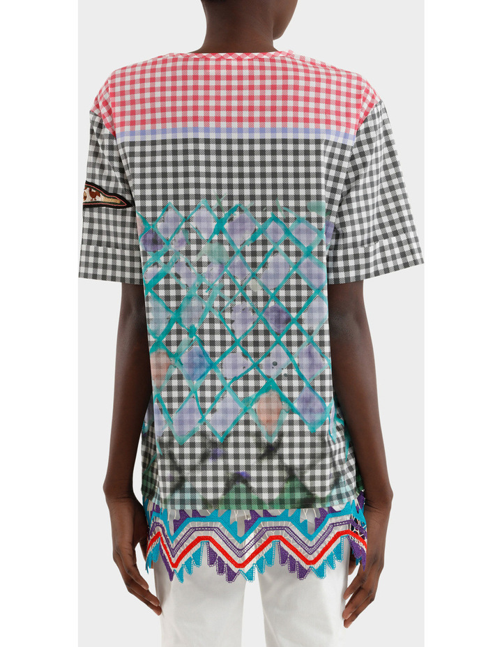 Cotton Gingham Emblem Tunic image 3