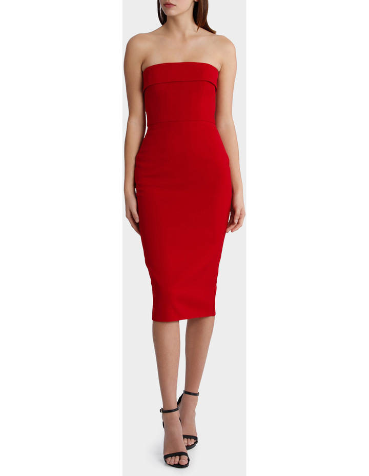 Elsie - Stretch Strapless Cuff Lady Dress image 1