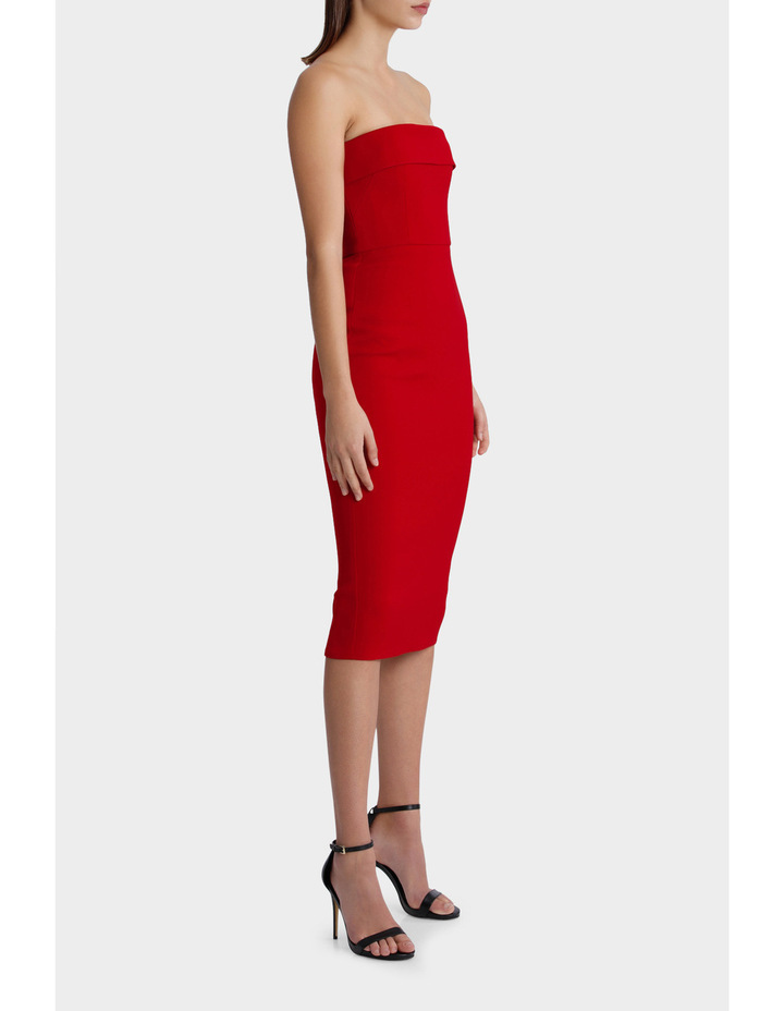 Elsie - Stretch Strapless Cuff Lady Dress image 2