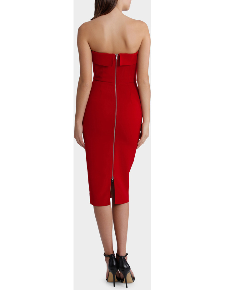 Elsie - Stretch Strapless Cuff Lady Dress image 3