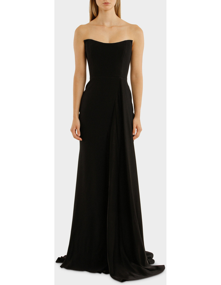 Satin Back Strapless Drape Gown image 1