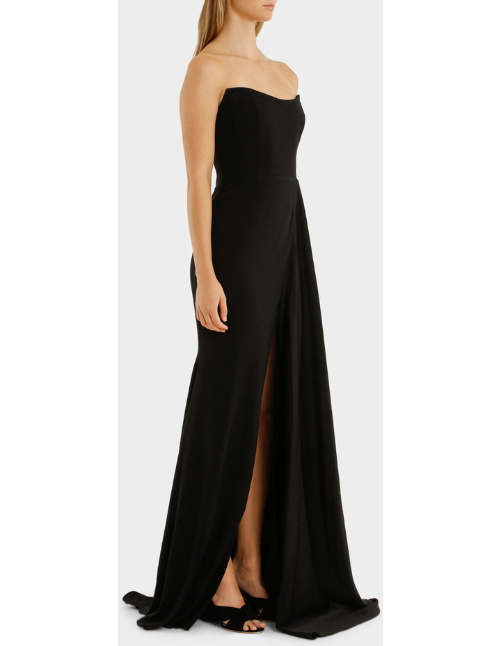 Satin Back Strapless Drape Gown image 2