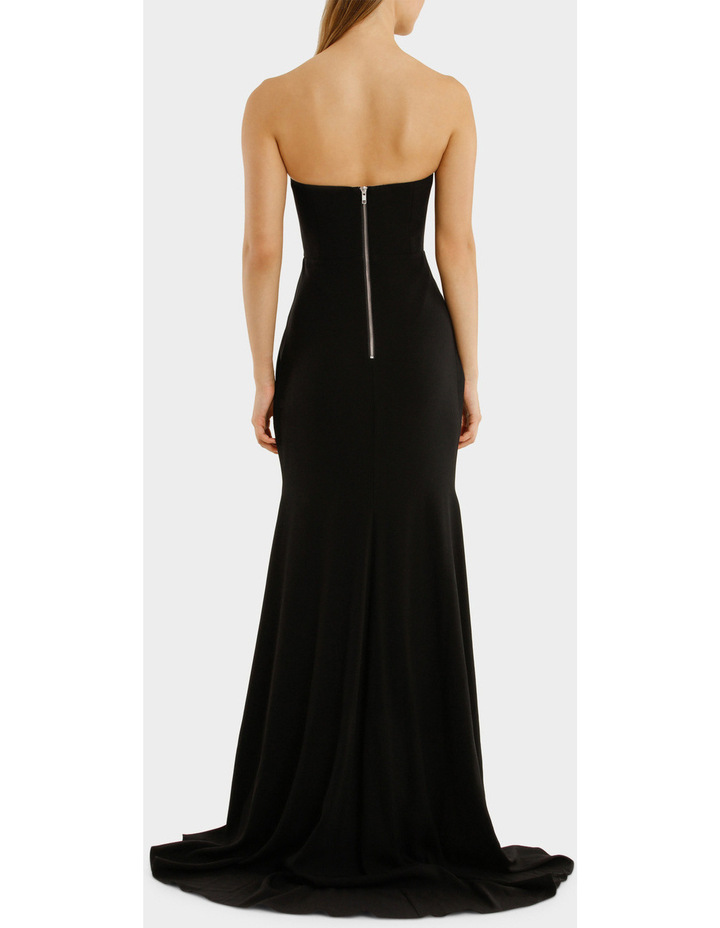 Satin Back Strapless Drape Gown image 3