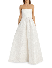 Alex Perry - Alice - Floral Brocade Strapless Gown
