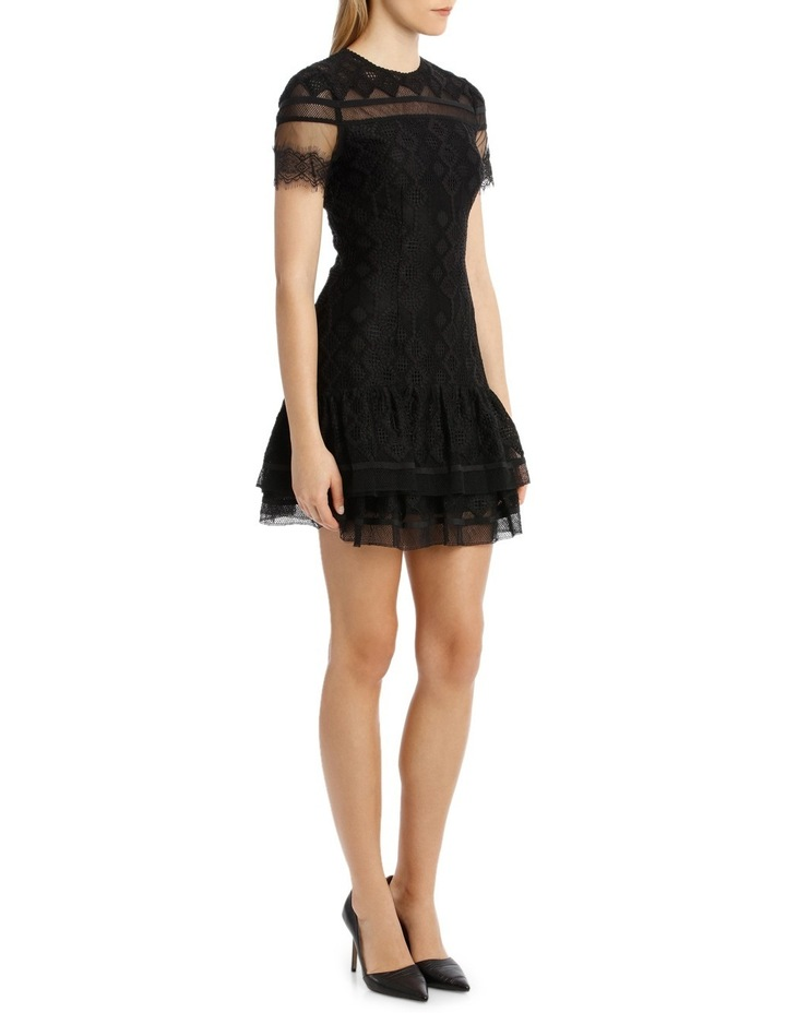 Multimedia Threaded Mesh Mini Ruffle Dress image 2