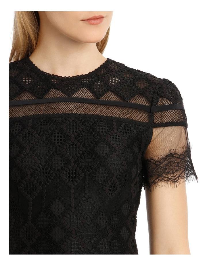 Multimedia Threaded Mesh Mini Ruffle Dress image 4