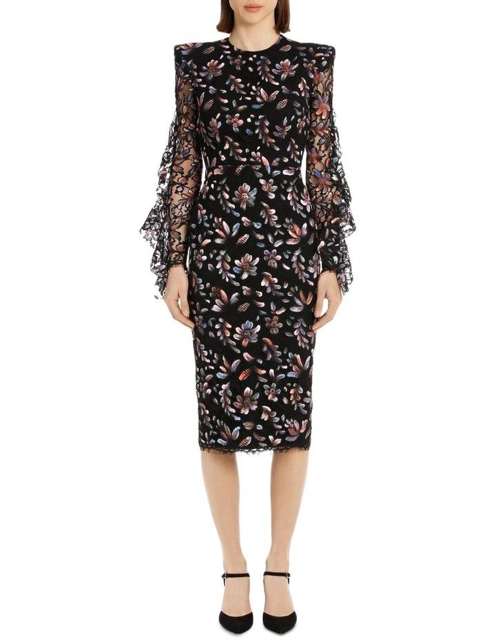 Liberty - Painted French Lace Long Sleeve Ruffle Lady Dress image 1