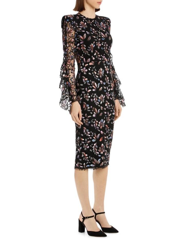 Liberty - Painted French Lace Long Sleeve Ruffle Lady Dress image 2
