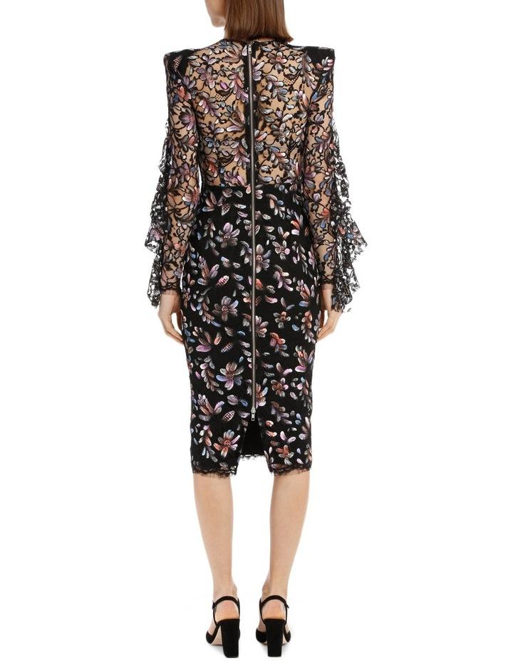 Liberty - Painted French Lace Long Sleeve Ruffle Lady Dress image 3