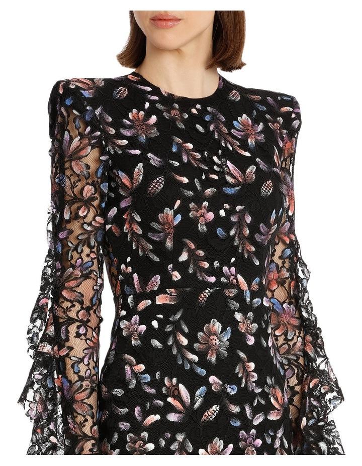 Liberty - Painted French Lace Long Sleeve Ruffle Lady Dress image 4