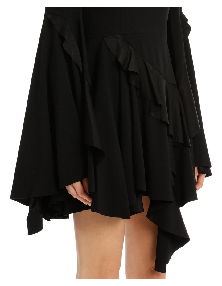 Ridgley - Satin Crepe Long Sleeve Ruffle Mini image 4