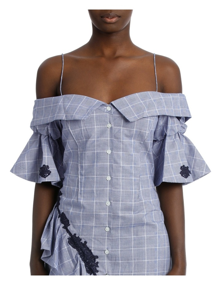 Plaid Lace Ruffle Dress image 4