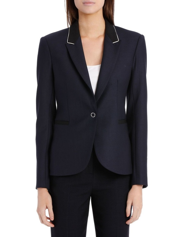 Ring Snap Wool Fitted Blazer image 1