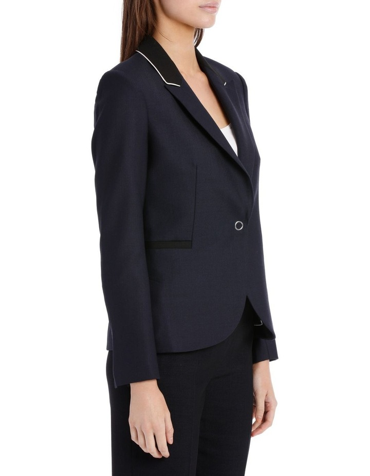 Ring Snap Wool Fitted Blazer image 2