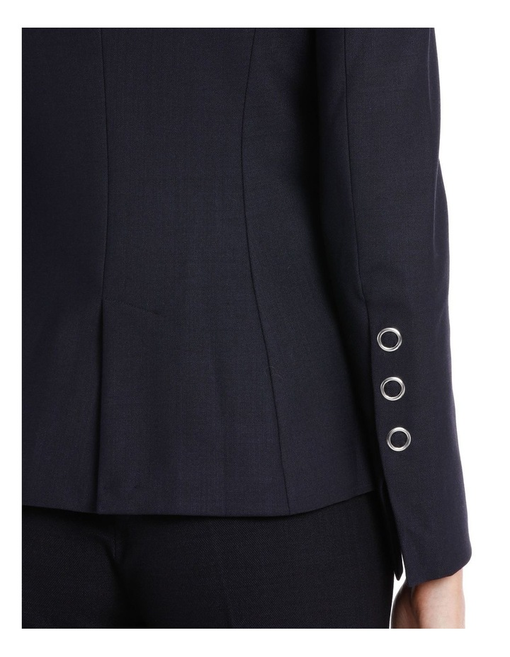 Ring Snap Wool Fitted Blazer image 4