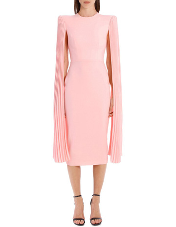 a7583e7b10 Alex PerryNina Pleated Satin Crepe Long Sleeve Lady Dress. Alex Perry Nina  Pleated Satin Crepe Long Sleeve Lady Dress