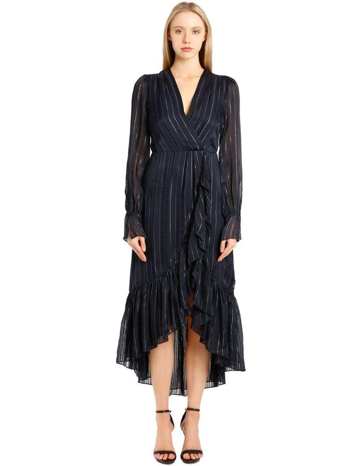 Metallic Chiffon Wrap Dress image 1