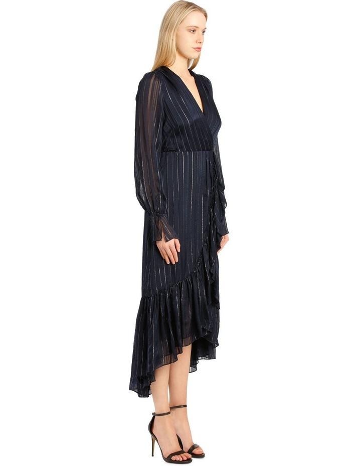 Metallic Chiffon Wrap Dress image 2