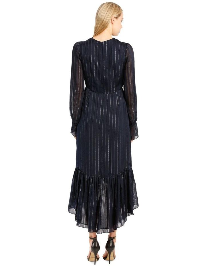 Metallic Chiffon Wrap Dress image 3