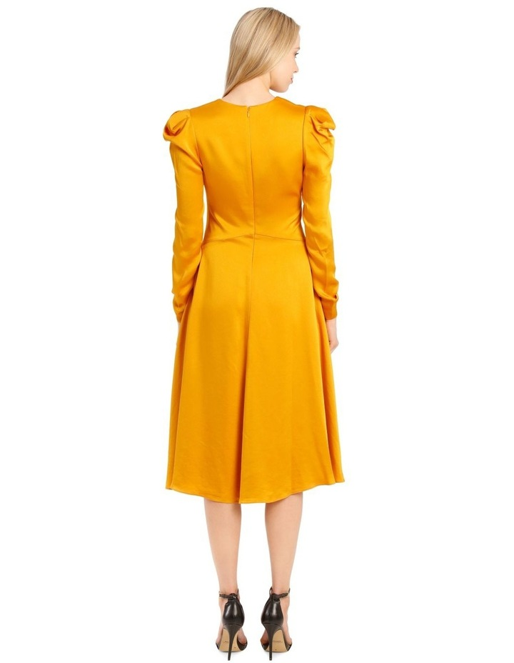 Rouched Front Sateen V-Neck Dress image 3