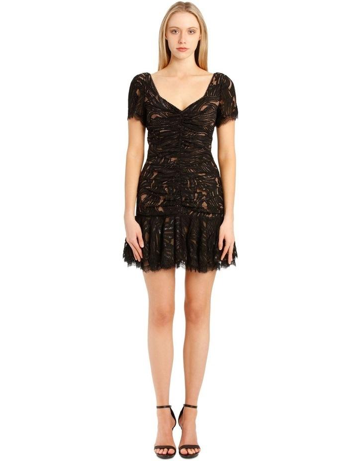 Metallic Lace Ruffle Mini Dress image 1