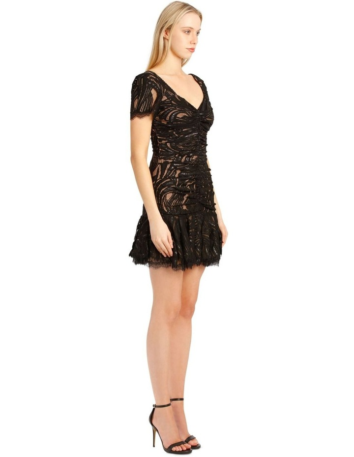 Metallic Lace Ruffle Mini Dress image 2