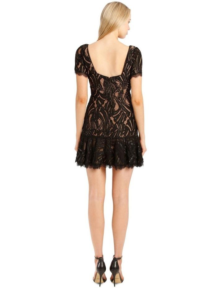 Metallic Lace Ruffle Mini Dress image 3