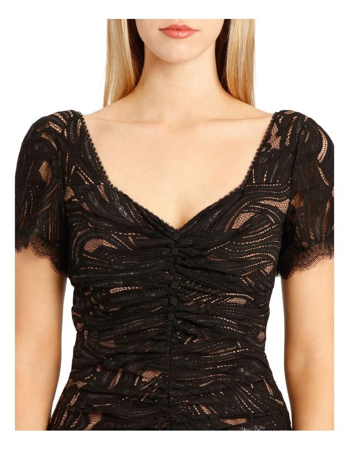 Metallic Lace Ruffle Mini Dress image 4