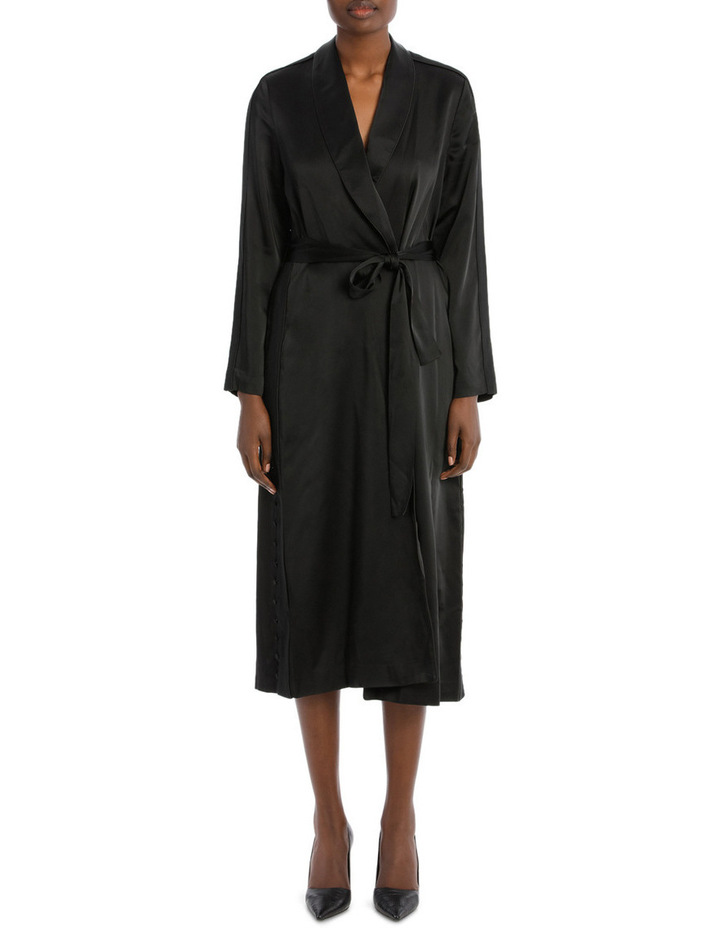 Deconstructed Satin Crepe Robe image 1